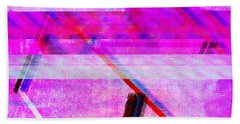 Beach Towel featuring the digital art Databending #1 by Bee-Bee Deigner