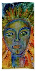 Daughter Of The Sun And Moon Beach Towel