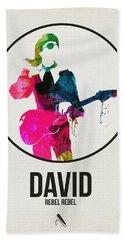 David Bowie Watercolor Beach Towel