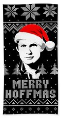 David Hasselhoff Merry Hoffmas Christmas Shirt Beach Towel