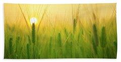 Dawn At The Wheat Field Beach Towel