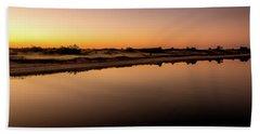 Beach Towel featuring the photograph Dawn Light, Ogunquit River by Jeff Sinon