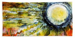 Beach Towel featuring the painting Dawn Of A New Sun by 'REA' Gallery