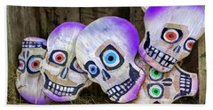 Day Of The Dead Decorations Beach Sheet