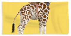 Daydreaming Of Giraffes Png Beach Towel