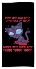 Dead Cold Angry Zombie Kitty Beach Towel