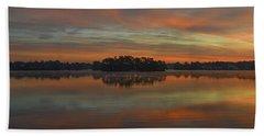 December Sunrise Over Spring Lake Beach Towel