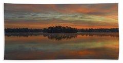 December Sunrise Over Spring Lake Beach Sheet