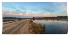Beach Towel featuring the photograph December Sunset At Whitesbog Nj by Beth Sawickie
