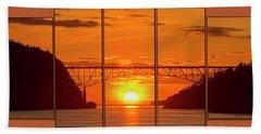 Deception Pass Sunset Panels Beach Sheet