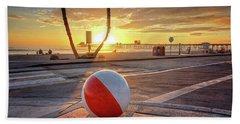 Decorative Beach Ball At Oceanside Pier Beach Towel
