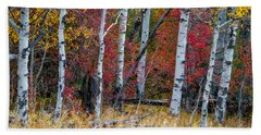 Deep Aspens Beach Towel