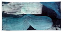 Beach Towel featuring the painting Deep Blue #3 by Maria Langgle