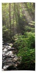 Deep In The Forrest - Sun Rays Beach Towel