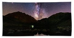Deep Sky Fishing Beach Towel