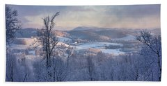 Deer Valley Winter View Beach Towel