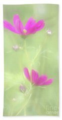 Delicate Painted Cosmos Beach Towel