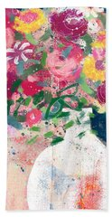 Delightful Bouquet- Art By Linda Woods Beach Towel