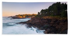Beach Towel featuring the photograph Depoe Bay Sunrise by Whitney Goodey