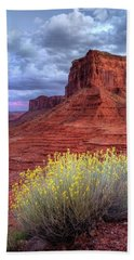 Desert Bouquets On A Stormy Eve Beach Towel