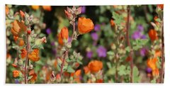 Desert Wildflowers Beach Sheet