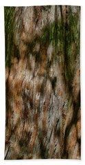 Detail Of Bark On Huge  Tree Beach Towel