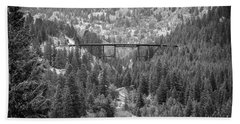 Beach Towel featuring the photograph Devils Gate In Black And White by Jon Burch Photography