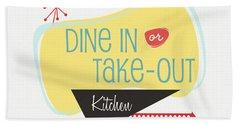 Dine In Kitchen - Art By Linda Woods Beach Towel