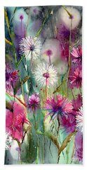 Disco Thistles Beach Towel