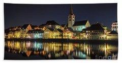Dissenhofen On The Rhine River Beach Towel