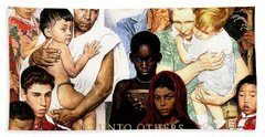Norman Rockwell Beach Towels
