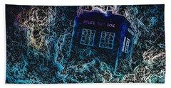 Doctor Who Tardis 3 Beach Towel