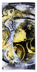 Beach Towel featuring the painting Dodo by 'REA' Gallery