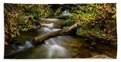 Beach Towel featuring the photograph Dogwoods Along The Provo Deer Creek by TL Mair