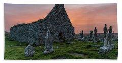 Doolin Ireland Graveyard At Sunrise Beach Towel
