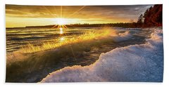 Door County Sunset Beach Towel