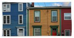Beach Towel featuring the photograph Doors And Windows In St. Johns Newfoundland by Tatiana Travelways