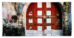 Doors Of India - Garage Door Beach Towel
