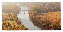 Dordogne River In The Mist Beach Towel