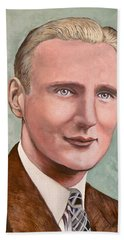 Beach Towel featuring the painting Dr. James Roderick II by Tom Roderick