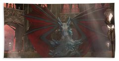 Dragon Steam Bath Beach Towel