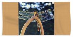 Dragonfly In The Sun  Beach Towel