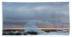 Beach Towel featuring the photograph Dramatic Beginnings. by Jeff Sinon