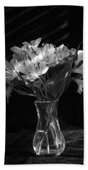Dramatic Flowers-bw Beach Sheet