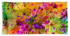Dream Of Flowers Beach Towel
