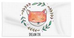 Dream On - Boho Chic Ethnic Nursery Art Poster Print Beach Sheet