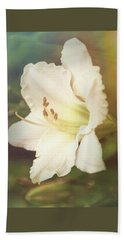 Beach Towel featuring the photograph Dreamy Lily by Leda Robertson