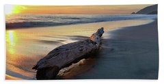 Beach Towel featuring the photograph Drift Wood At Sunset II by John Rodrigues