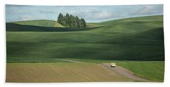 Drive In The Palouse Beach Towel