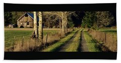 Beach Towel featuring the photograph Driveway Home by Jerry Sodorff